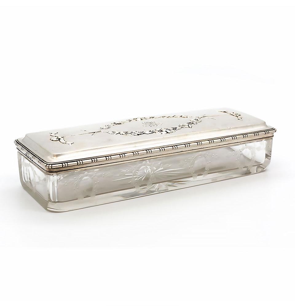Caseta din cristal cu capac de argint, Vincenz Mayer