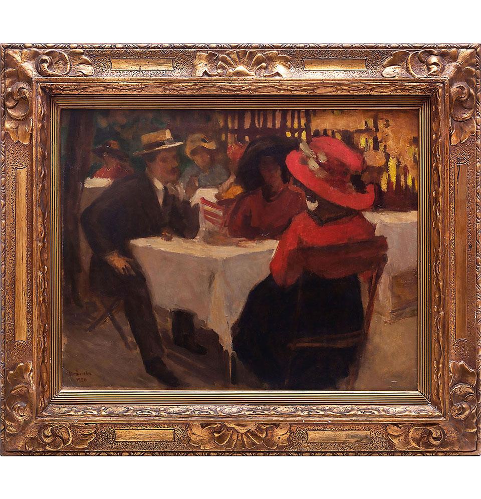 LA TERASĂ, Ipolit Strâmbu (1920)