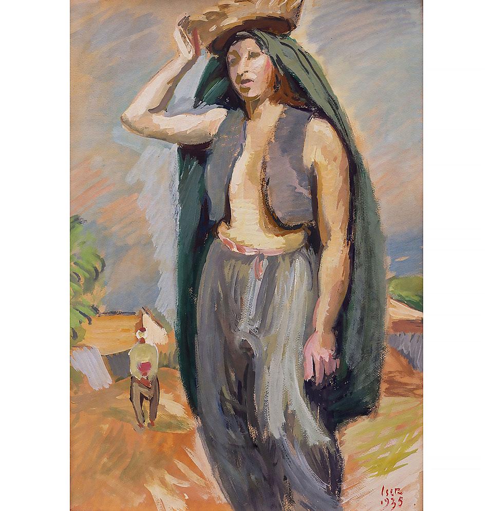 ODALISCĂ CU COȘ PE CAP, Iosif Iser (1935)