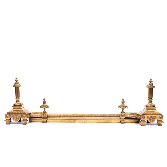 Garnitură pentru șemineu din bronz doré, stil Empire